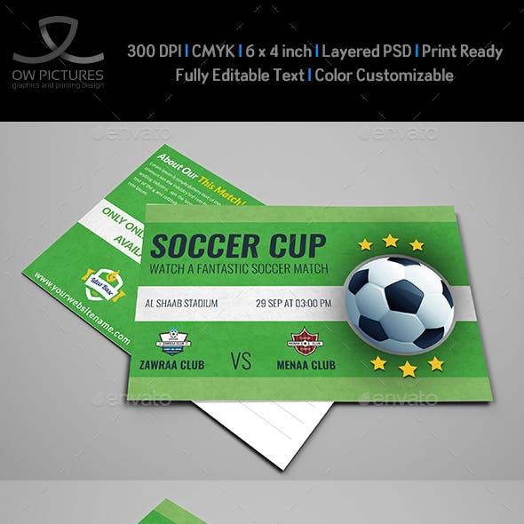 Soccer Postcard Template