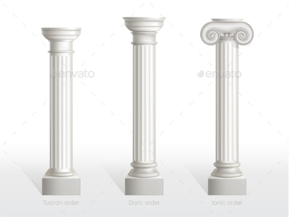 Antique Columns Set - Buildings Objects