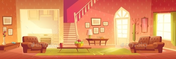 Cartoon Home Interior - Buildings Objects