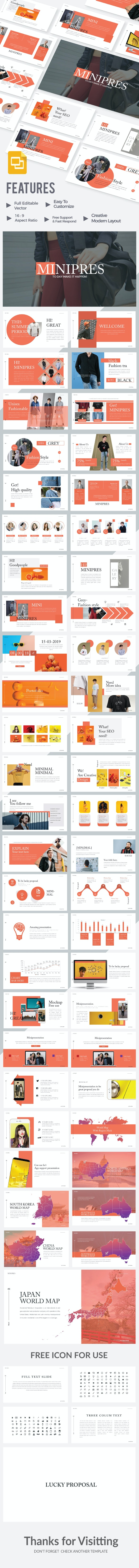 Minipres  - Google Slide Presentation Template - Google Slides Presentation Templates