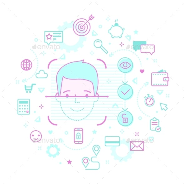 Concept of Face ID - Computers Technology