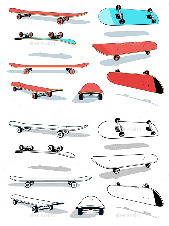Skateboard Pack - Man-made Objects Objects
