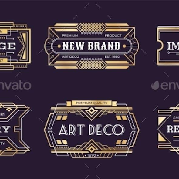 Art Deco Labels