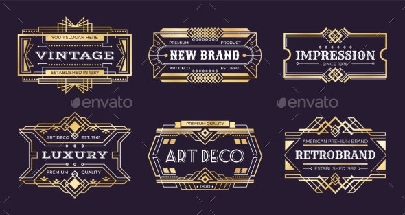 Art Deco Labels - Miscellaneous Vectors