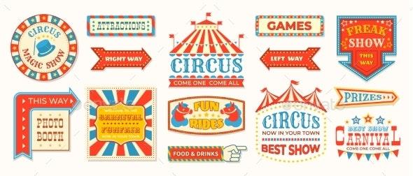 Circus Labels - Miscellaneous Vectors