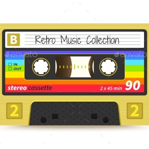 Retro Cassette Vintage 1980s Mix Tape