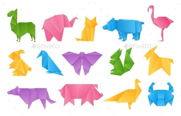 Origami Animals Vector - Download Free Vectors, Clipart Graphics ... | 379x590