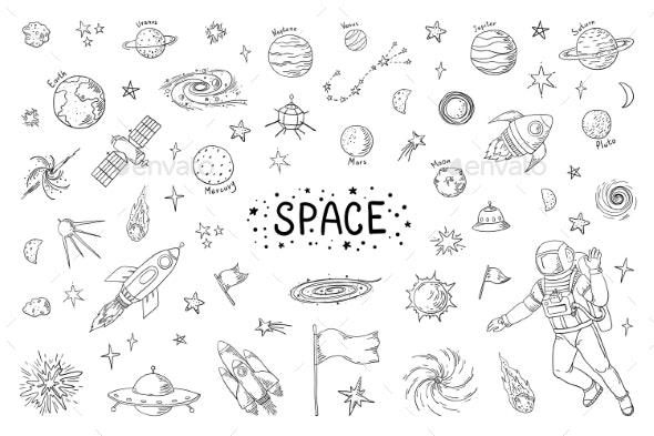 Doodle Space - Miscellaneous Vectors