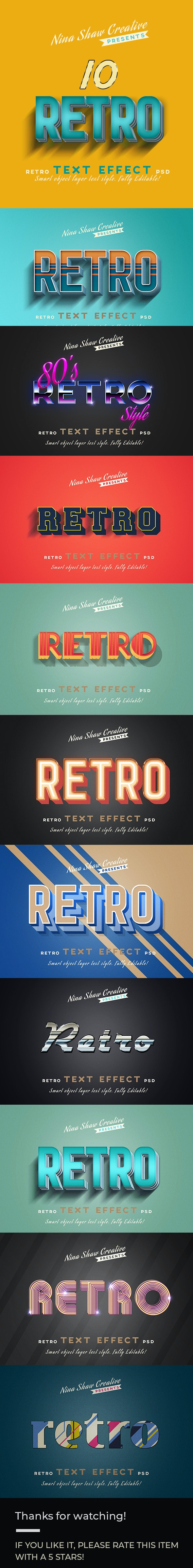 Retro/Vintage Text Effects - Text Effects Actions