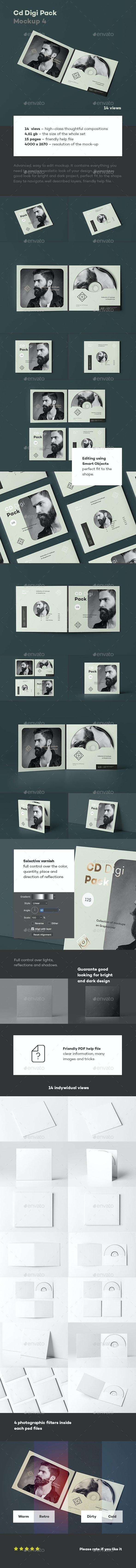 CD Digi Pack Mock-up 4 - Discs Packaging