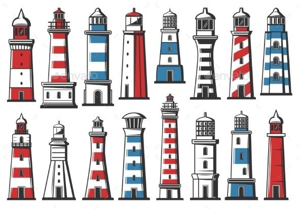 Nautical Marine Lighthouse Sea Light Beacon - Buildings Objects