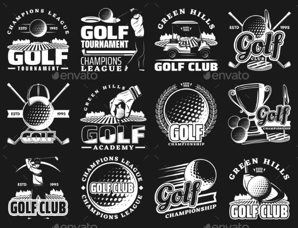 Golf Club Championship Emblems - Sports/Activity Conceptual