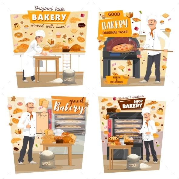 Bakery Shop, Patisserie Baker Profession - Food Objects