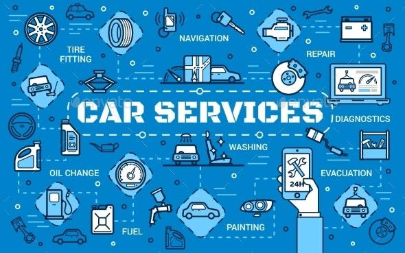 Car Diagnostic Automobile Repair Service Center - Industries Business