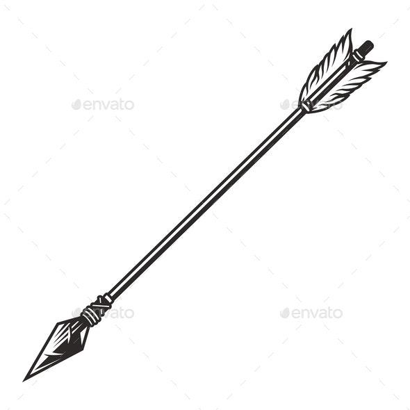 Vintage Hunting Arrow Concept - Miscellaneous Vectors