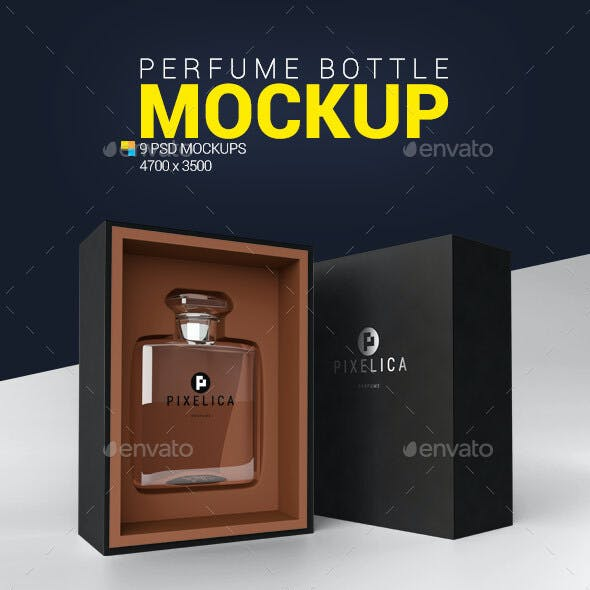 Perfume Bottle Mockup Graphics Designs Templates
