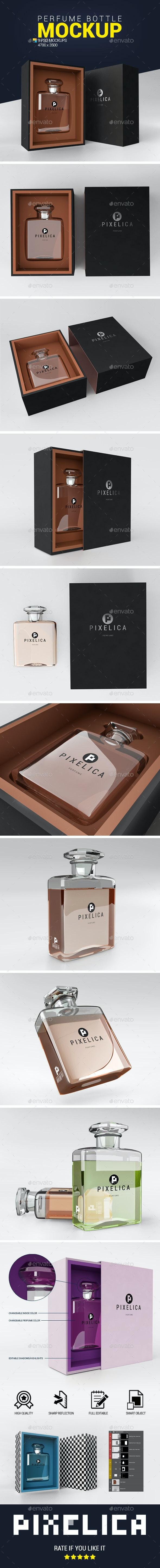Perfume Bottle Mockup - Product Mock-Ups Graphics