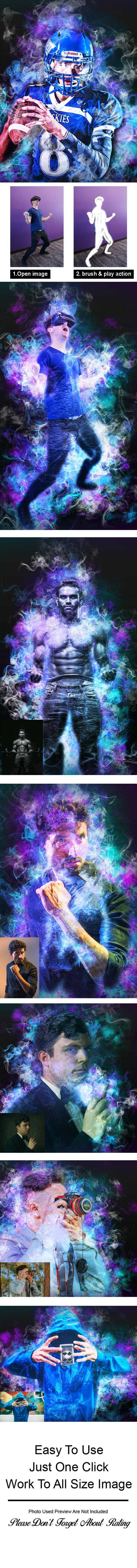Amazing Smoke Photoshop Action - Actions Photoshop