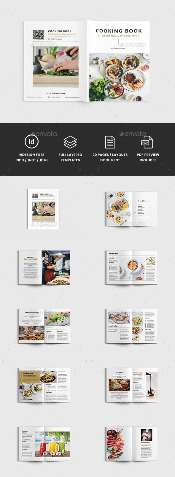 Foody - A4 Food & Cooking Book Brochure Template - Informational Brochures