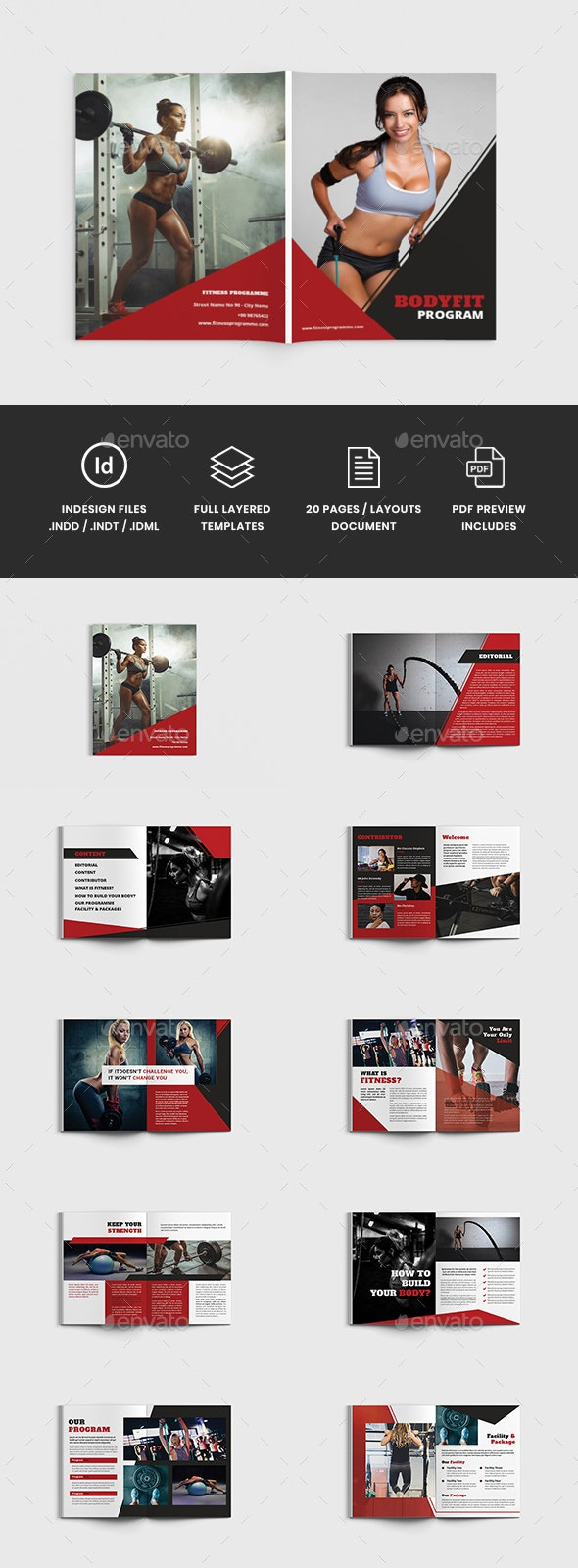 Bodyfit - A4 Fitness & Gym Brochure Template - Catalogs Brochures