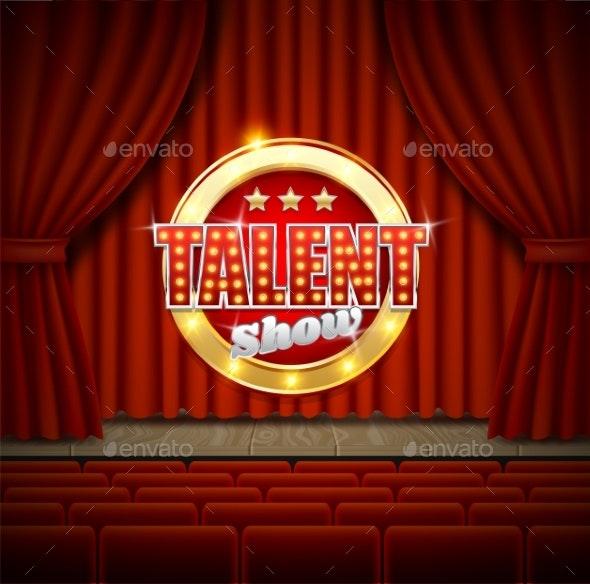 Talent Show Poster Template - Miscellaneous Vectors