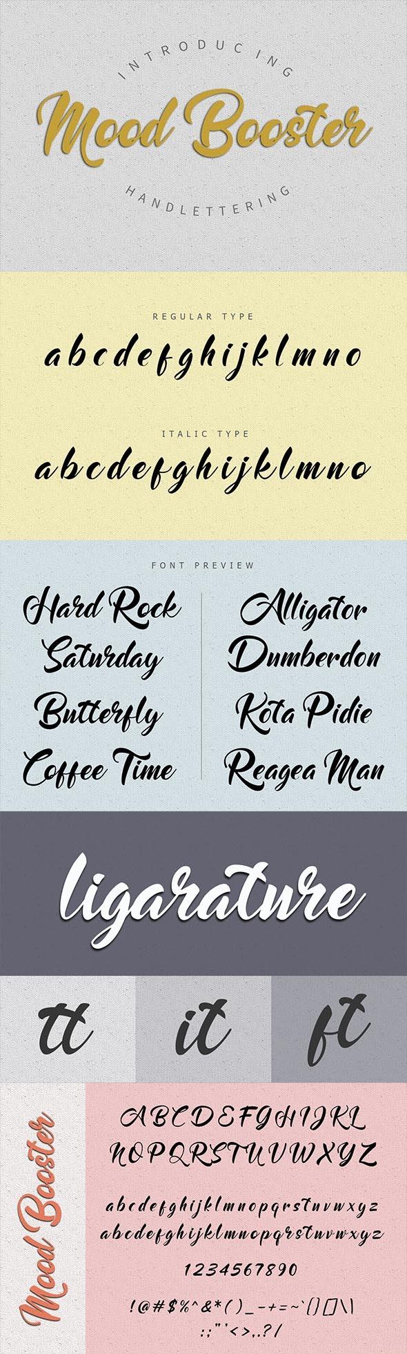 Mood Booster Font - Calligraphy Script