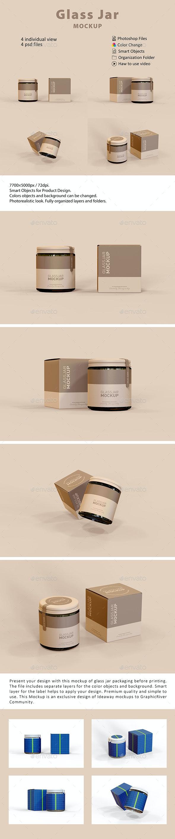 Glass Jar Packaging Mockup - Beauty Packaging