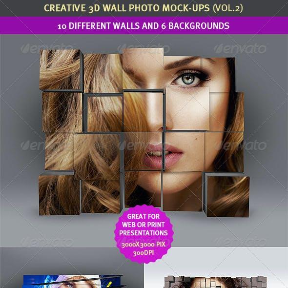 3D Wall Photo Mock-Ups 2