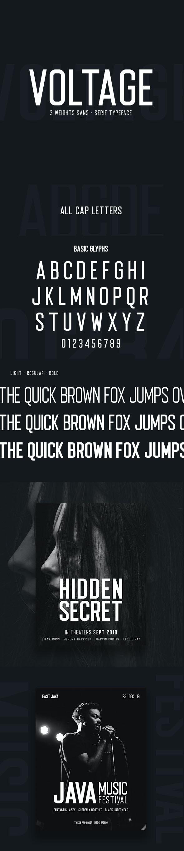 Voltage Sans-serif - Sans-Serif Fonts