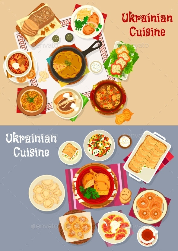 Ukrainian Cuisine Restaurant Dinner - Food Objects