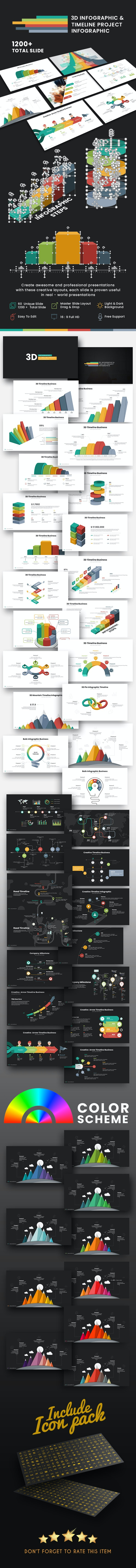3D Infographic & Timeline Presentation Template - Creative PowerPoint Templates