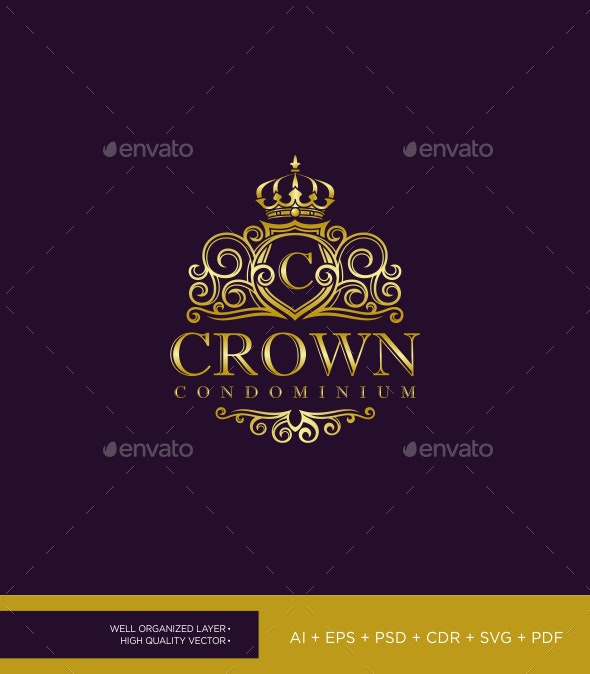 Elegant Crown Logo - Crests Logo Templates