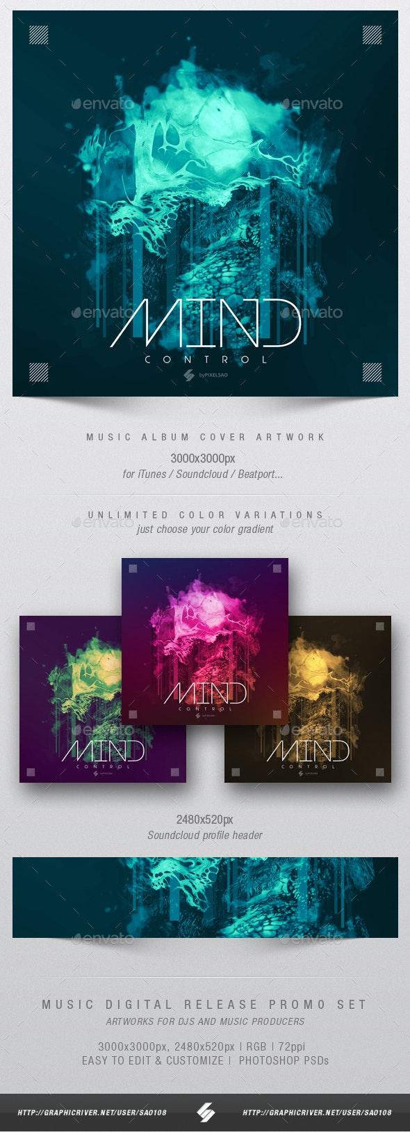 Mind Control - Progressive Music Album Cover Template - Miscellaneous Social Media