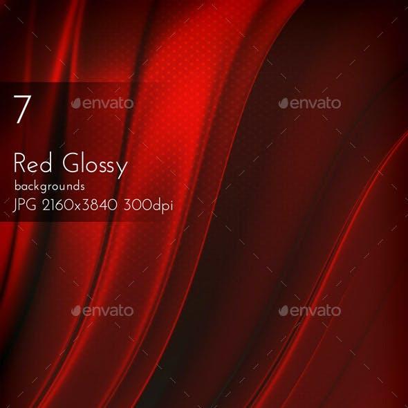 Dark Red Glossy Background