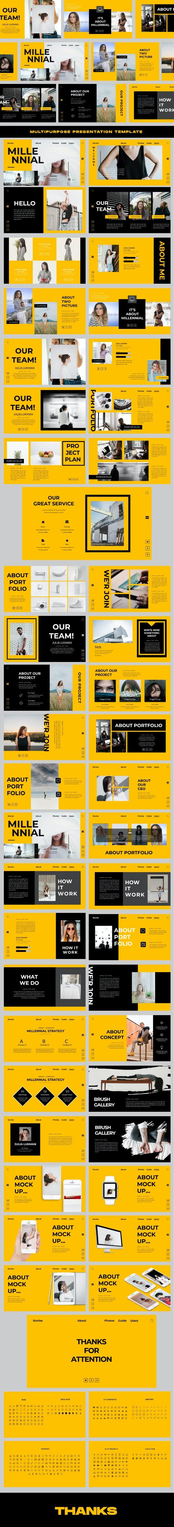 Millennial - Creative Powerpoint - Business PowerPoint Templates