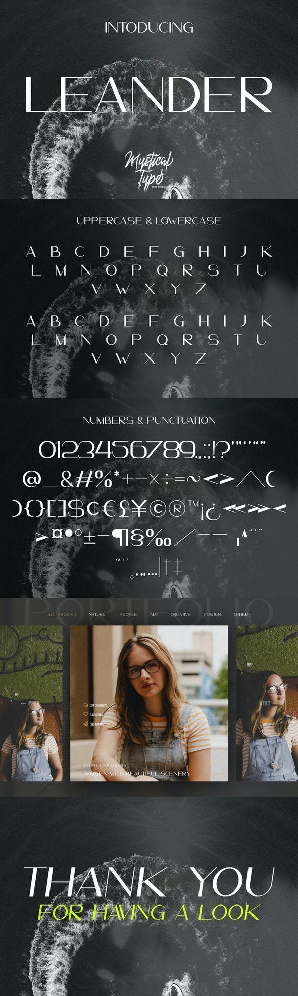 Leander - Sans-Serif Fonts