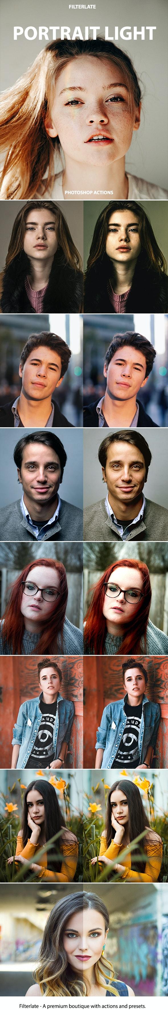 Light Portrait Actions - Actions Photoshop