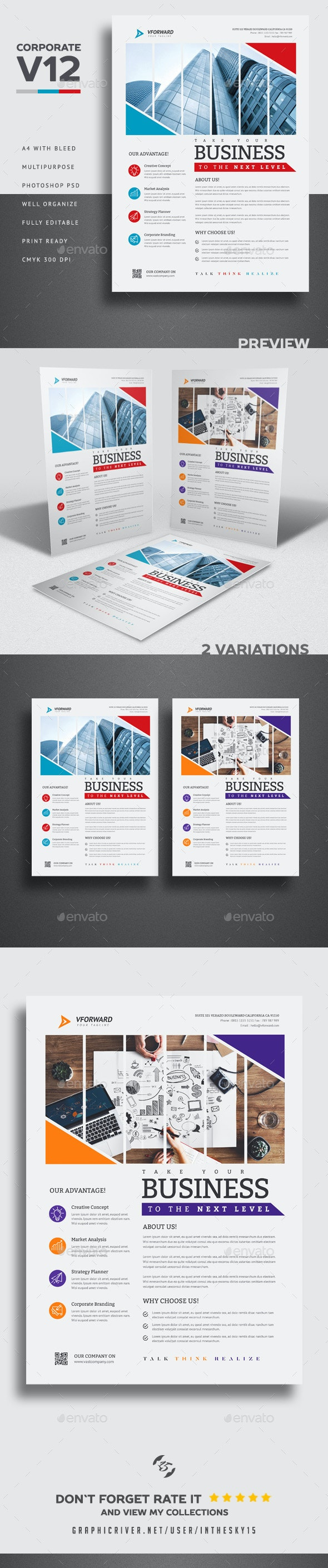 Corporate V12 Flyer - Corporate Flyers