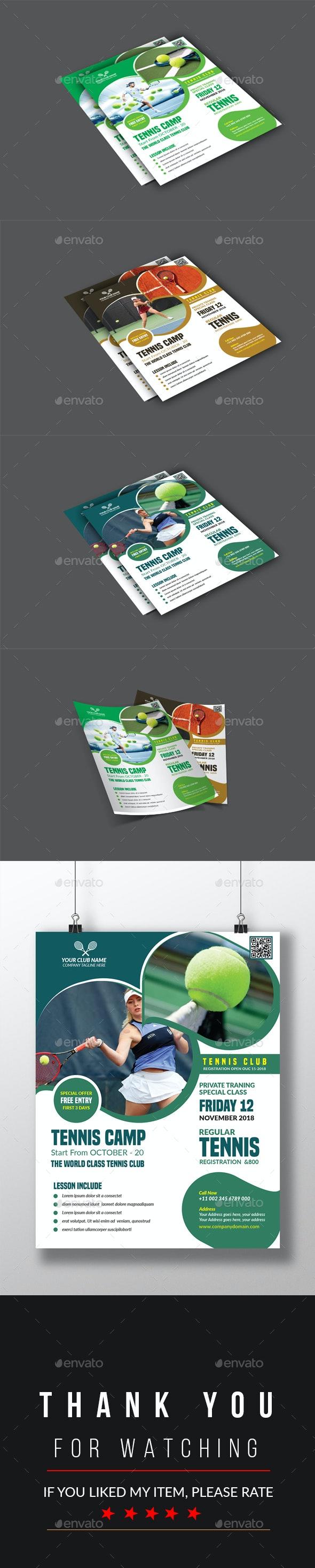 Tennis Flyer - Flyers Print Templates