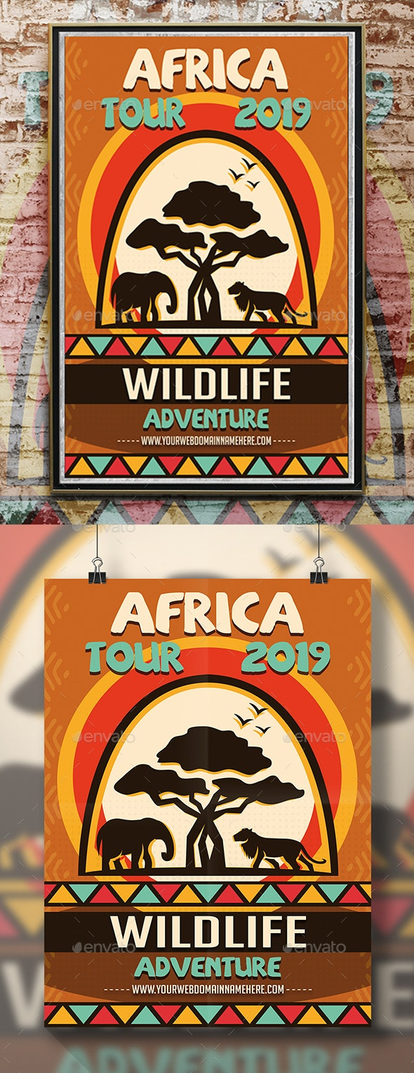 Africa Adventure Flyer - Holidays Events
