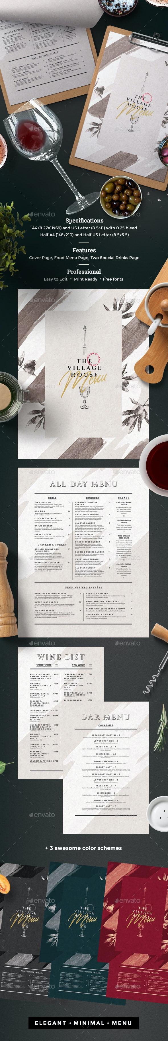 Menu Restaurant - Food Menus Print Templates