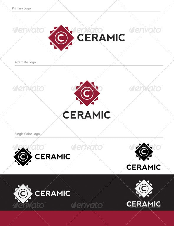 Ceramic Logo Design - LET-023 - Letters Logo Templates