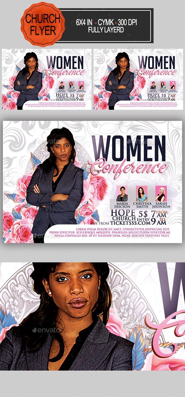 Women Conference Church Flyer - Church Flyers