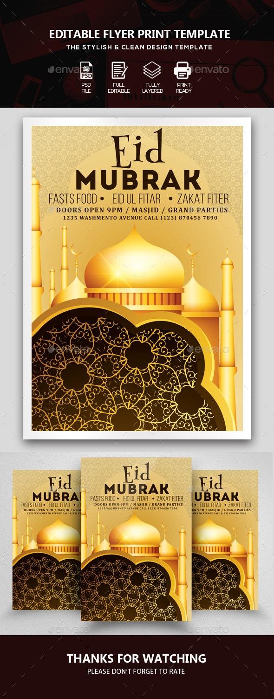 Eid Mubarak Flyer Template - Events Flyers