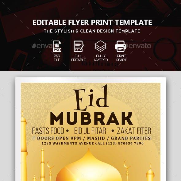 Eid Mubarak Flyer Template