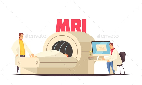 Medical MRI Composition - Health/Medicine Conceptual