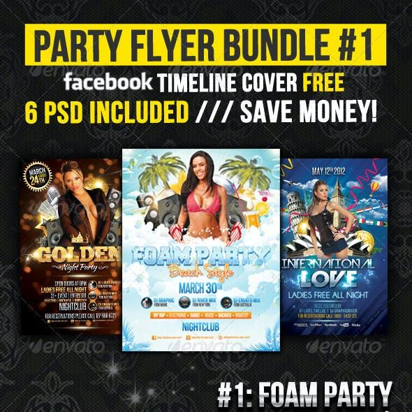 Party Flyer Bundle 01 + Fb Timeline