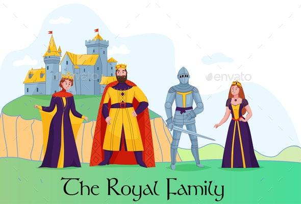 Medieval Kingdom Royalty Composition - Backgrounds Decorative
