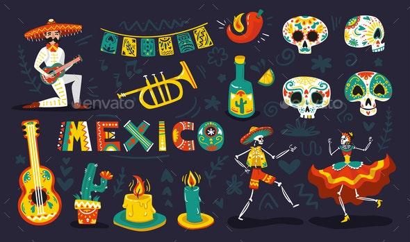 Day Dead Mexico Set - Miscellaneous Seasons/Holidays