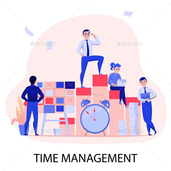 Time Management Composition - Business Conceptual